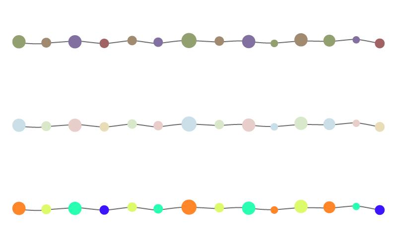 カラフルな丸と手書き線の罫線イラスト02