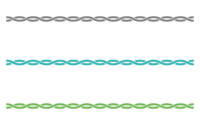 交差した波線の罫線イラスト02