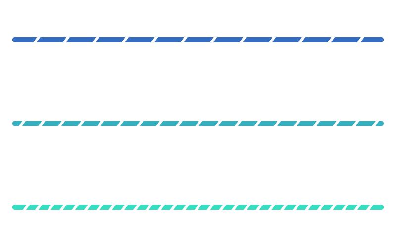 青色系の斜線模様の罫線イラスト