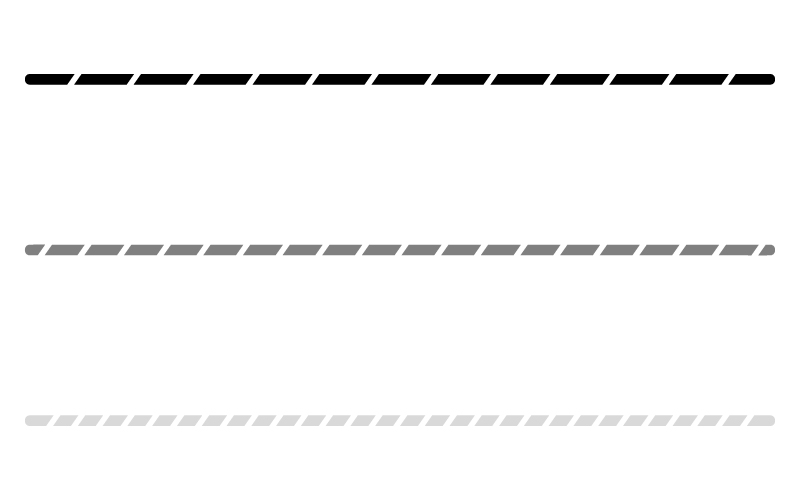 白黒・モノトーンの斜線模様の罫線イラスト
