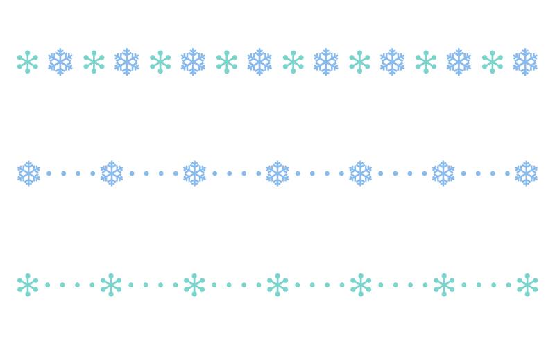 雪の結晶の罫線イラスト