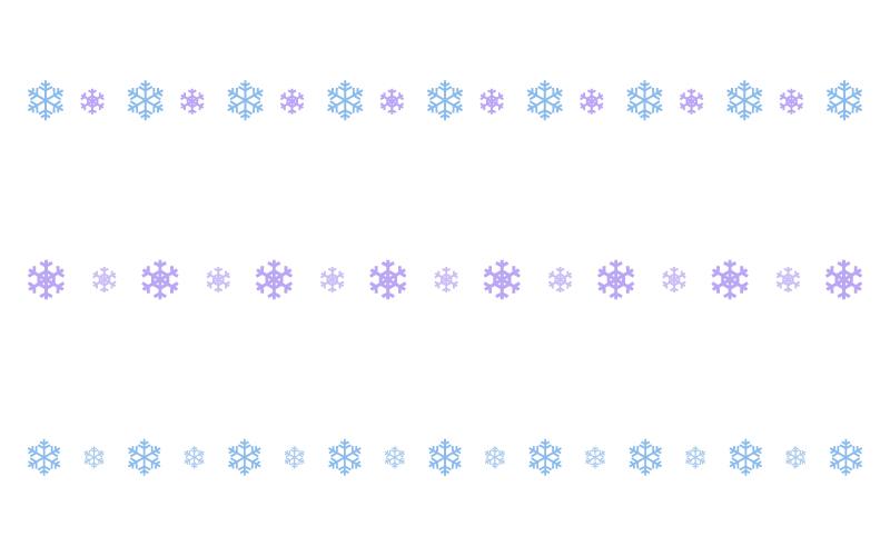 雪の結晶の罫線イラスト02