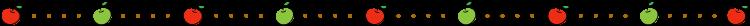 りんごと点線の罫線イラスト02