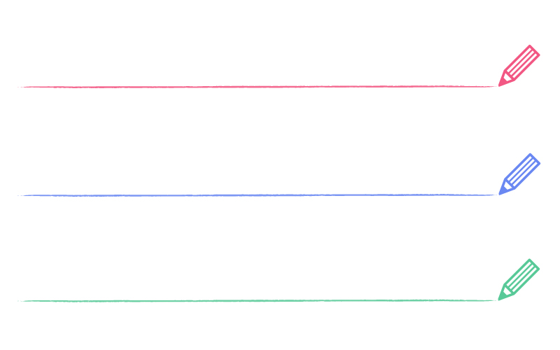鉛筆とかすれ線の罫線イラスト