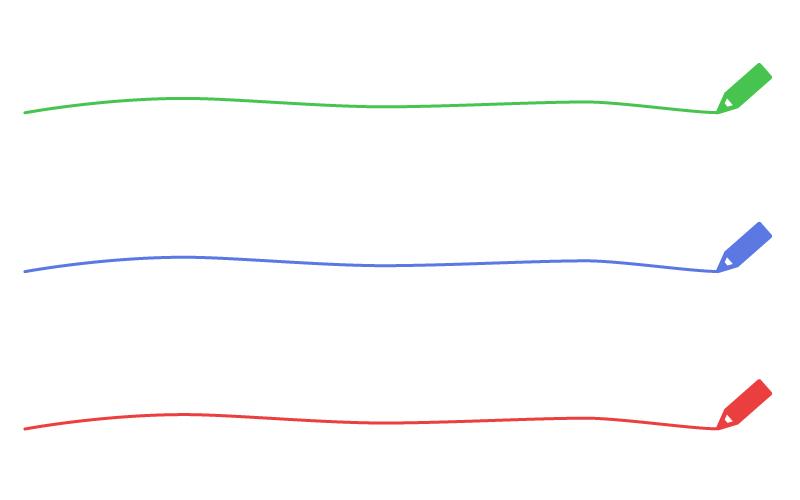 色鉛筆の罫線イラスト02