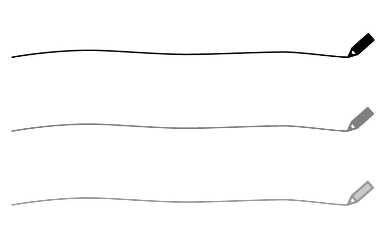 モノトーンの色鉛筆の罫線イラスト02