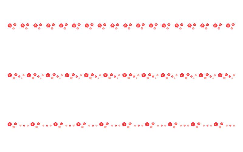 梅の罫線イラスト02