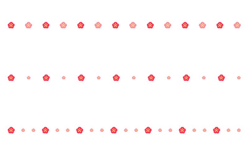 梅の罫線イラスト03