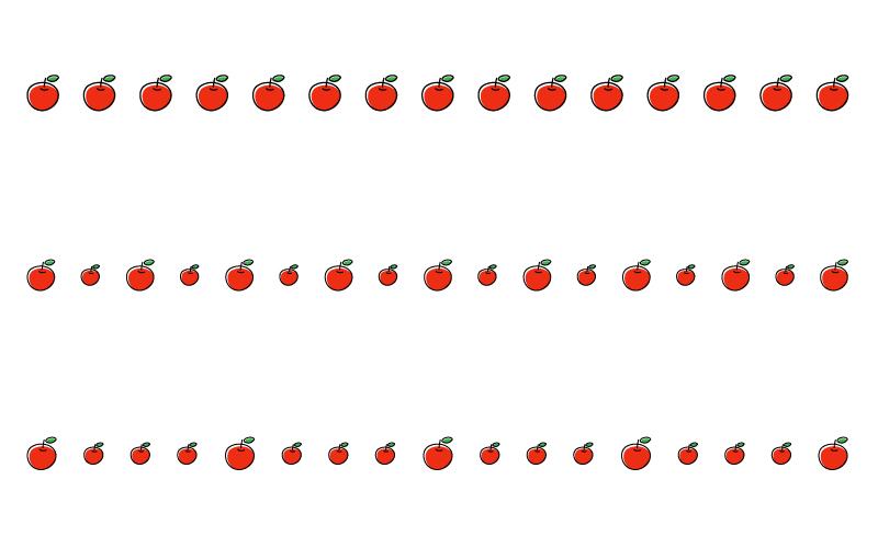 りんごの罫線イラスト