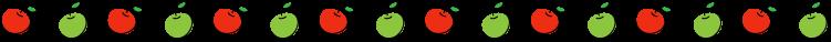 りんごの罫線イラスト02