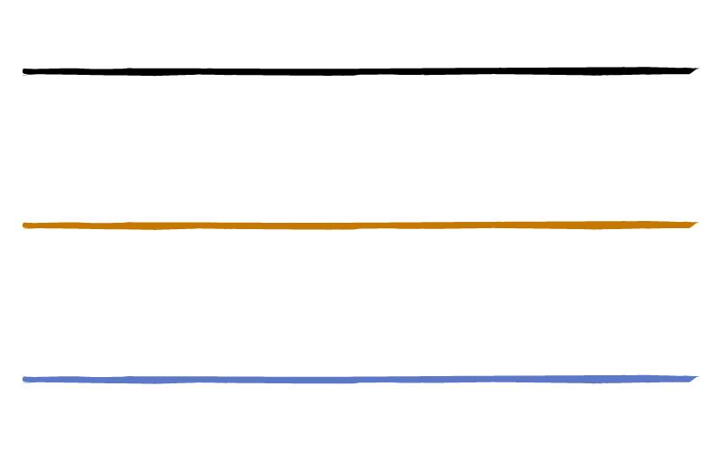 和風・シンプルな筆の罫線イラスト