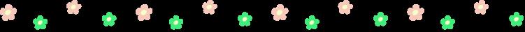 かわいい小花の罫線イラスト03