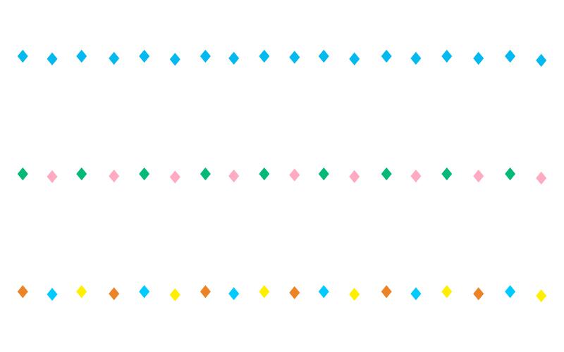 ひし形(ダイヤ)の罫線イラスト