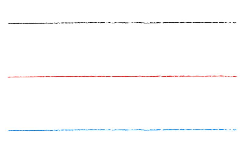 和風・シンプルなかすれ線の罫線イラスト