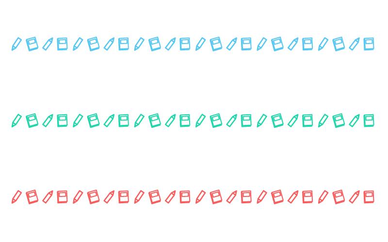 ノートとペンの罫線イラスト