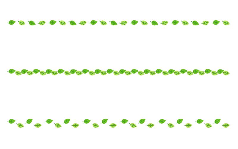 葉っぱの罫線イラスト02