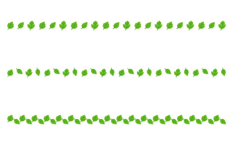 葉っぱの罫線イラスト03