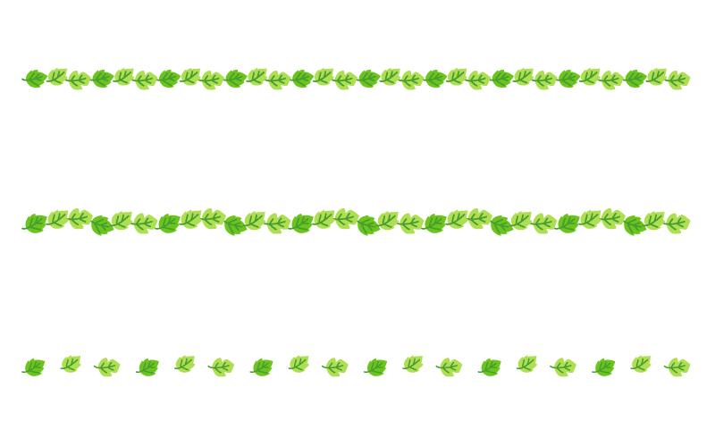 葉っぱの罫線イラスト04