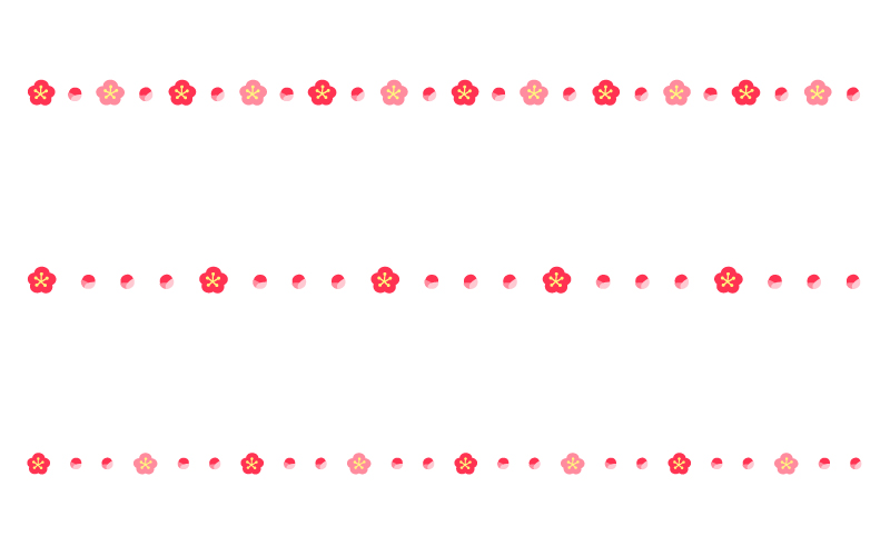 梅の罫線イラスト