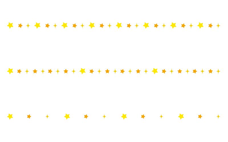 星の罫線イラスト