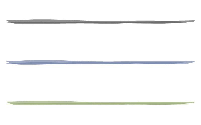 水彩風の罫線イラスト
