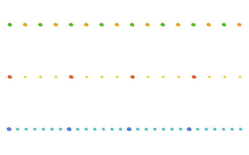 手書き風の丸の罫線イラスト