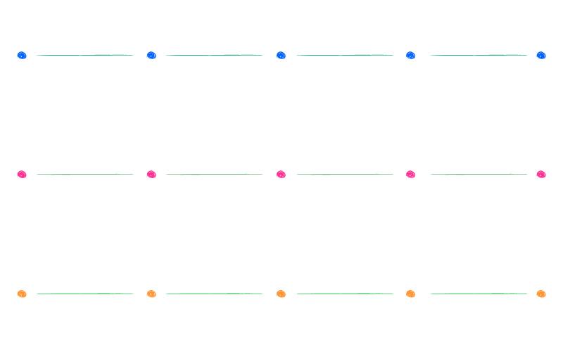 手書き風の丸の罫線イラスト02