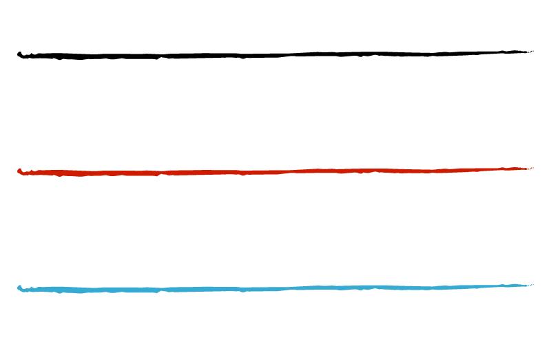 和風・シンプルな筆の罫線イラスト02
