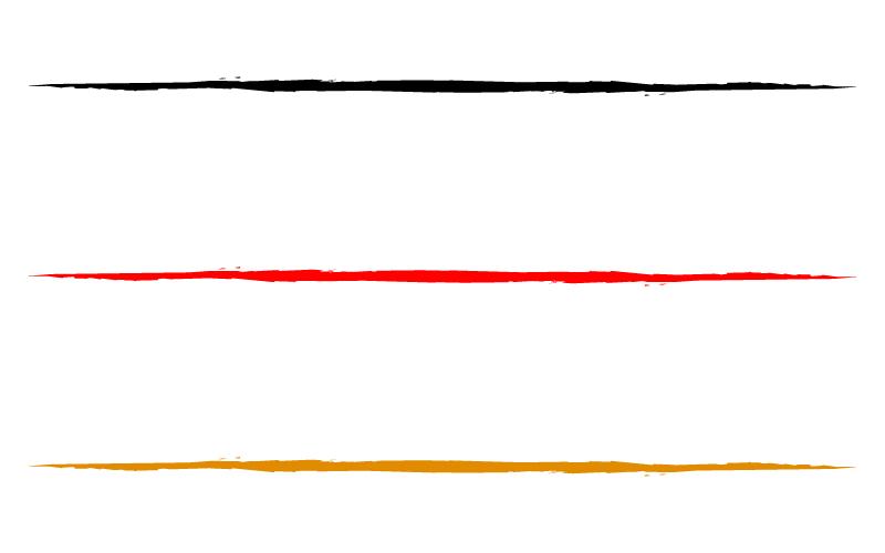和風・シンプルな筆の罫線イラスト03