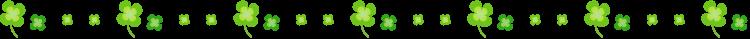 四つ葉のクローバーの罫線イラスト02