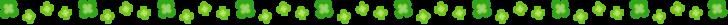 四つ葉のクローバーの罫線イラスト03