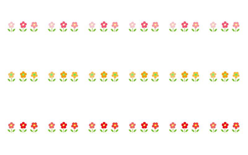 小花の罫線イラスト