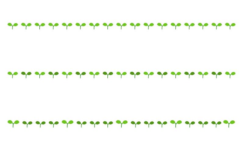 植物の芽の罫線イラスト