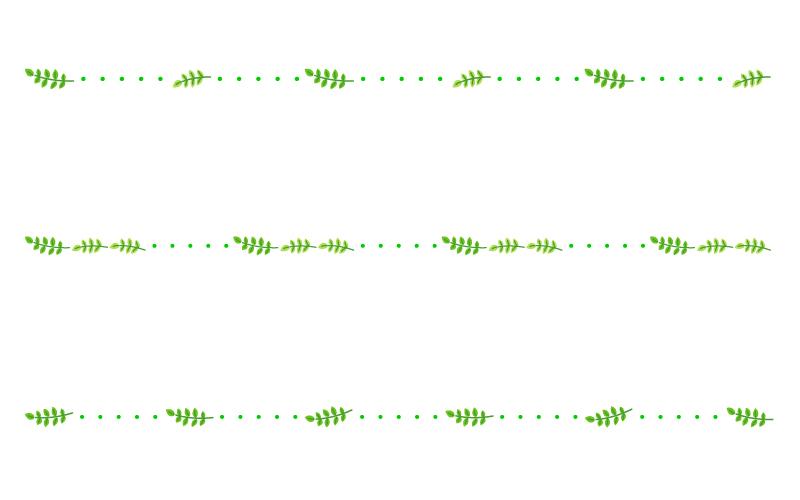 蔦・葉っぱと点線の罫線イラスト