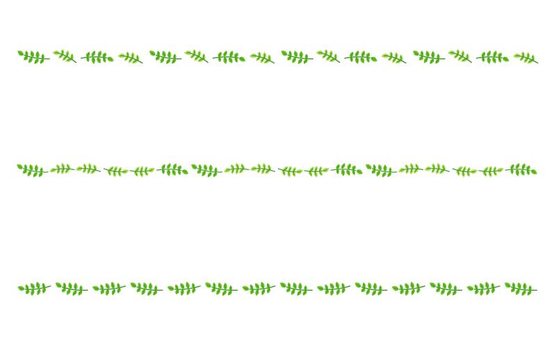 蔦・葉っぱの罫線イラスト