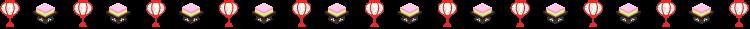 ぼんぼりと菱餅のひな祭りの罫線イラスト