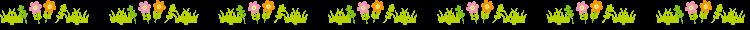 カラフルな小花の罫線イラスト
