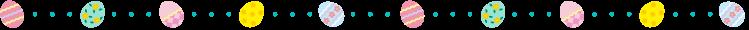 イースターエッグと点線の罫線イラスト02