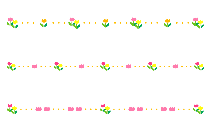 flower_tulip_dotted_line_1033