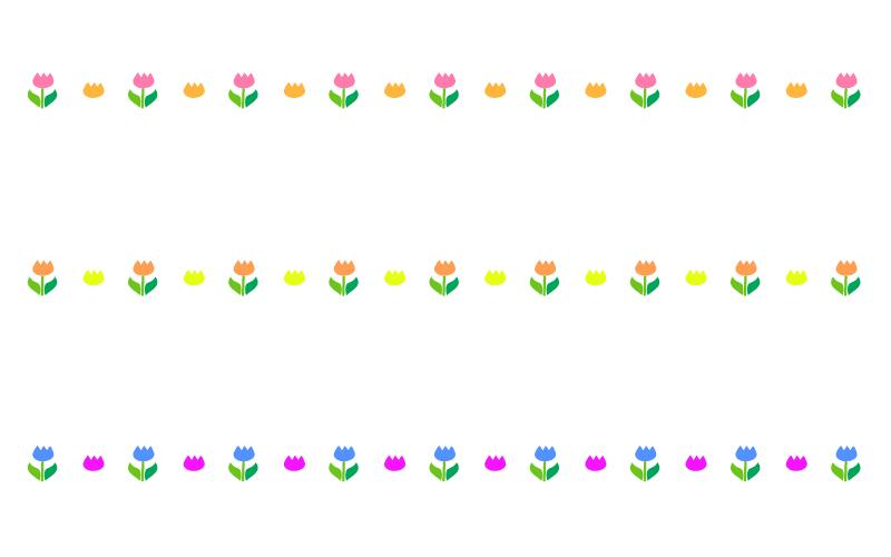 チューリップの罫線イラスト02