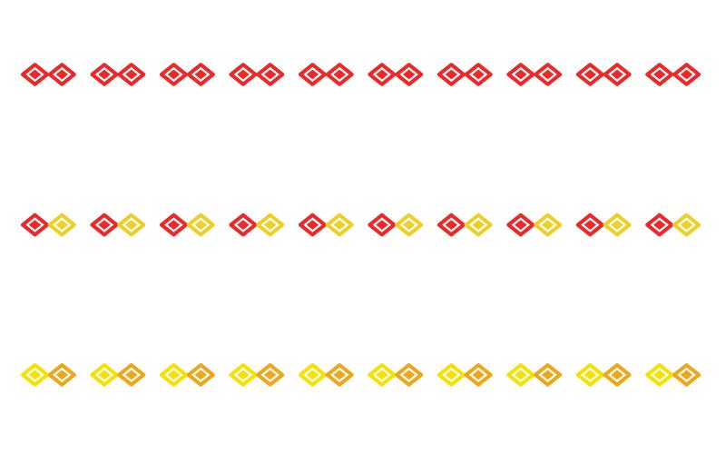 ひし形の罫線イラスト02