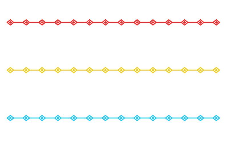 ひし形の罫線イラスト03