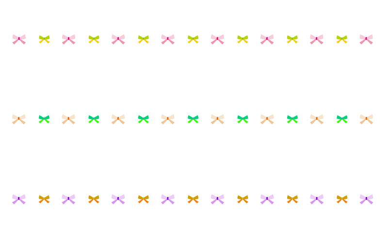 リボンの罫線イラスト 無料の線ライン素材 飾り罫線イラストcom