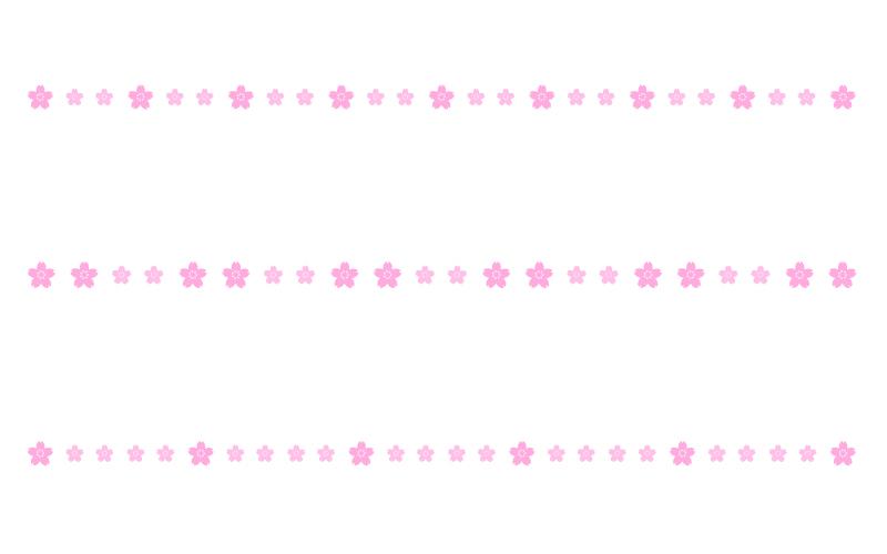 桜の罫線イラスト