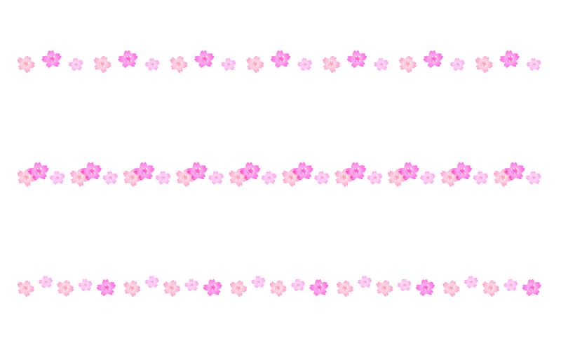 桜の罫線イラスト04