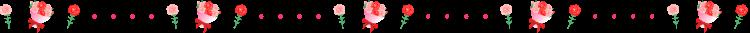 カーネーションと花束と点線の罫線イラスト