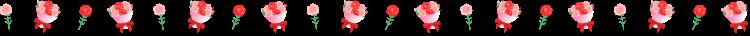 カーネーションと花束の罫線イラスト