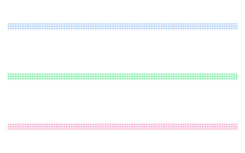 チェック模様の罫線イラスト
