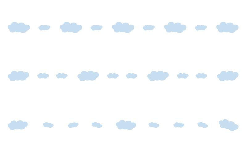 雲の罫線イラスト02