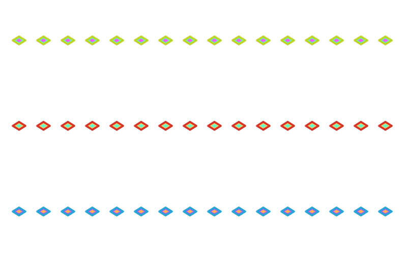 カラフルなひし形の罫線イラスト